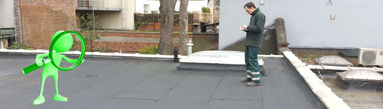 Groendak dak inspectie.